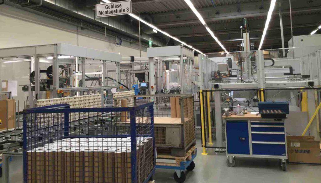 Montagelinie für Staubsaugermotoren